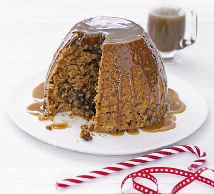 Sticky date & raisin pudding
