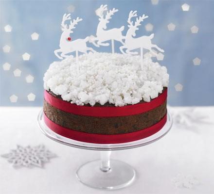 Simple snow sparkle cake