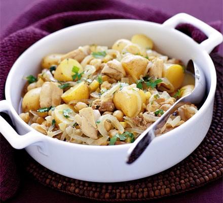 Chicken, chickpea & lemon casserole