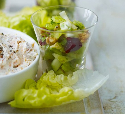 Beetroot & apple salad pots