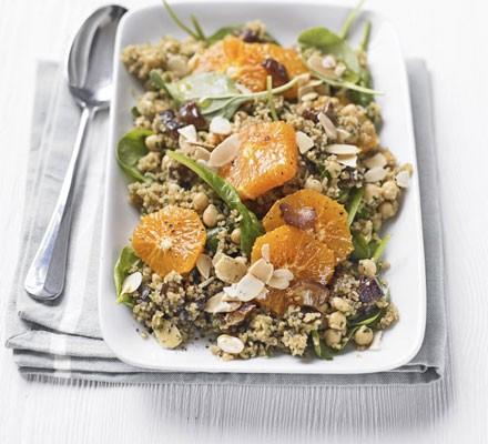 Bulgur wheat, date & clementine salad