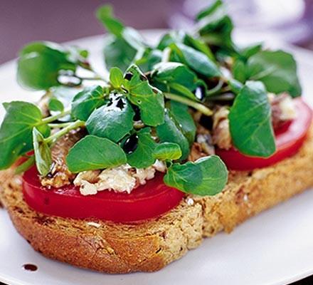 Sardines & watercress on toast