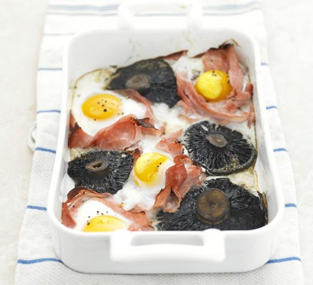 All-in-one-baked mushrooms
