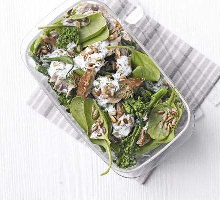 Super-green mackerel salad