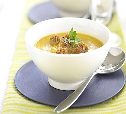 Sherried squash soup