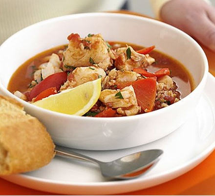 Simple spicy fish stew