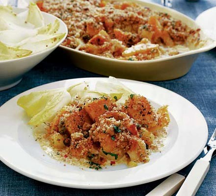 Pumpkin & potato gratin