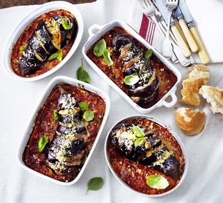 Roast aubergine parmigiana