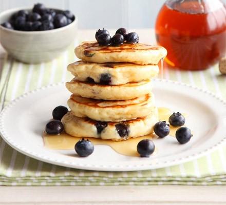 Blueberry & lemon pancakes