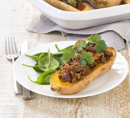 Butternut squash with spicy chilli