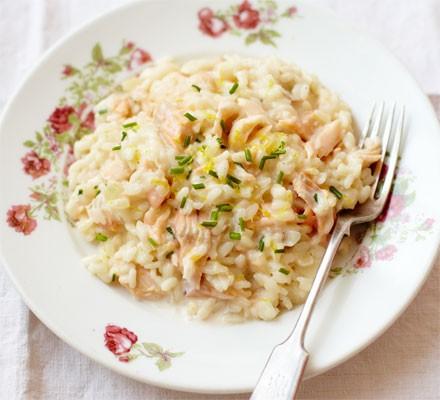 Trout risotto