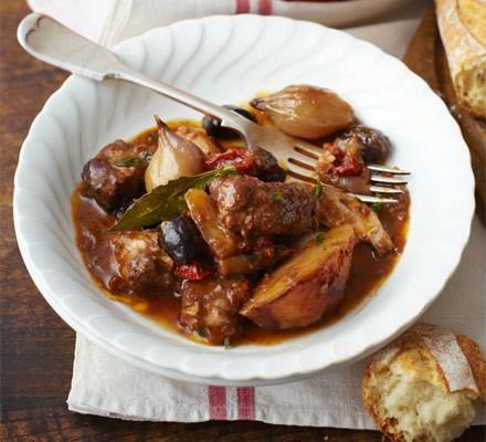 One-pot pork with orange, olives & bay