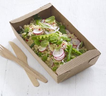 Bulgur & broad bean salad with zesty dressing
