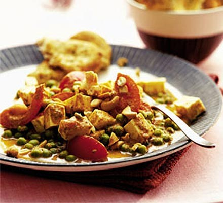 Paneer in herby tomato sauce