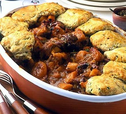 Pork & parsnip cobbler
