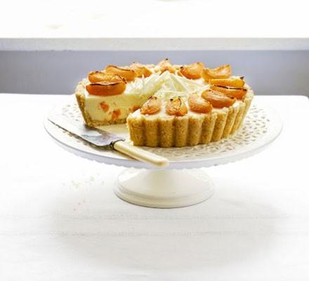 White chocolate & apricot cheesecake