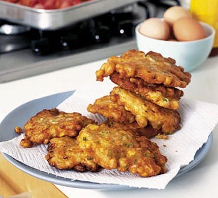 Storecupboard corn pancakes