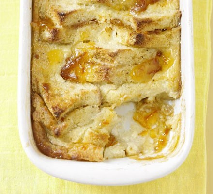 Marmalade & whisky bread & butter pudding