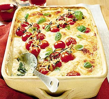 Fresh lasagne with pesto