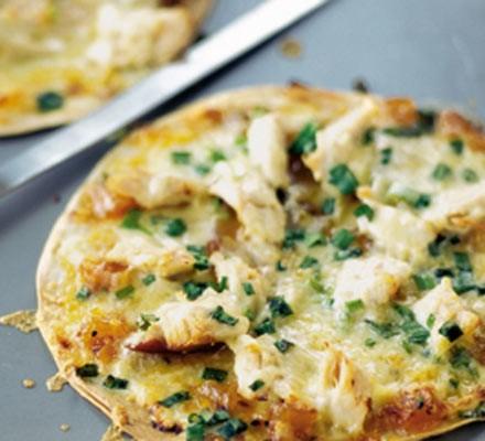 Cheese & chutney tostados
