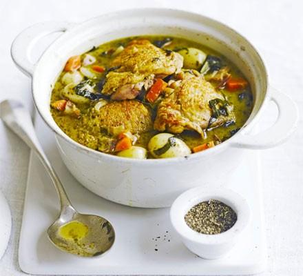 Spring chicken one-pot