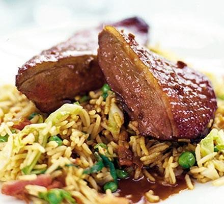 Soy roast duck with hoisin gravy