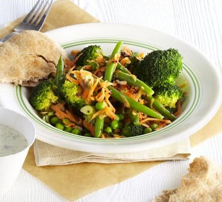Indian bean, broccoli & carrot salad