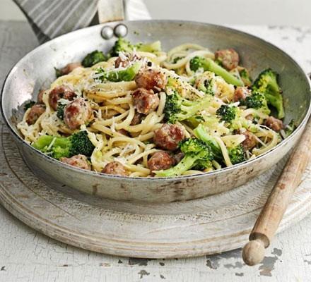 Sausage Broccoli Carbonara Recipe Bbc Good Food