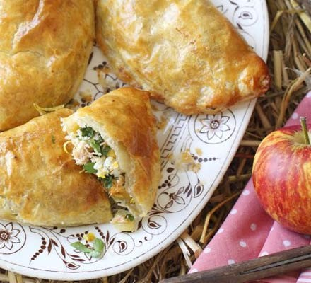 Crab & leek pasties
