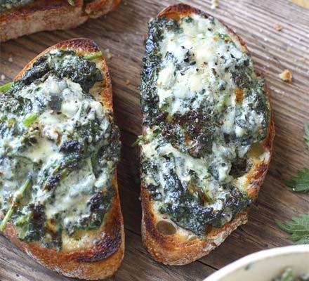 Nettle & blue cheese rarebit