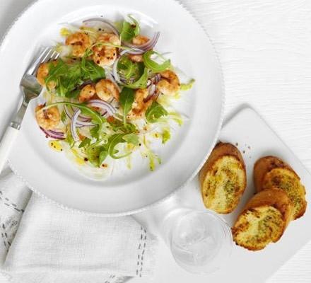 Mediterranean prawn salad