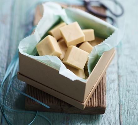 Vanilla fudge in a gift box