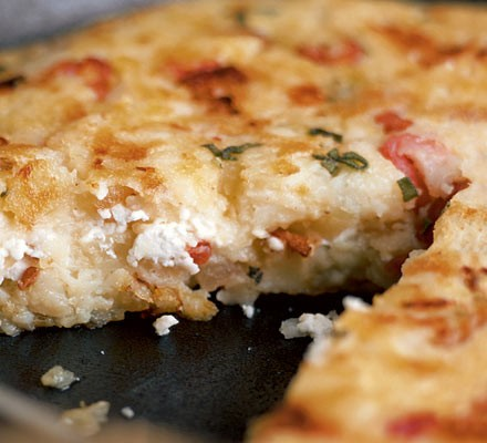 Goat's cheese & bacon rosti