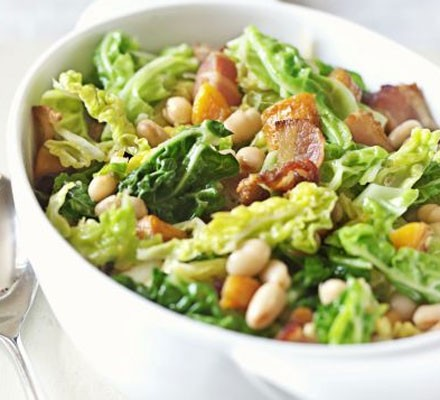 All-in-one cabbage with beans & carrots