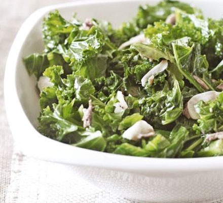 Sweet & sour kale with garlic & anchovy
