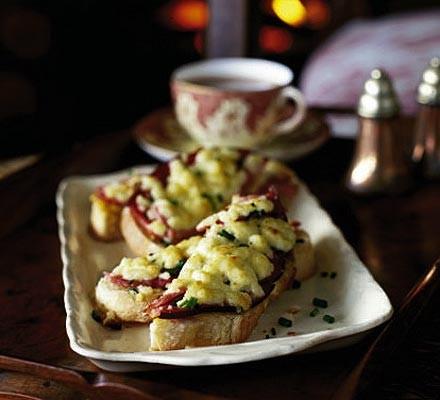 Cheshire cheese & ham on toast