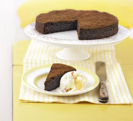 Dark & squidgy chocolate torte