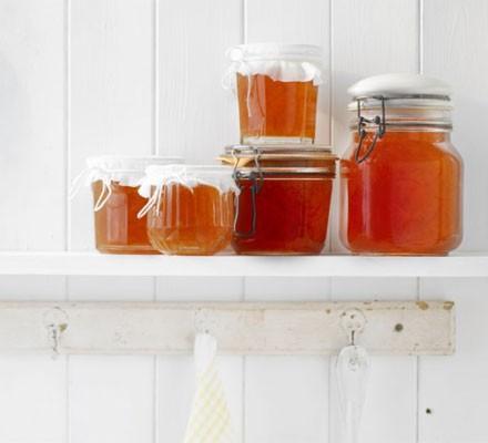 Seville orange marmalade in jars