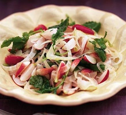 Lemony radish & fennel salad