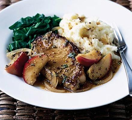 Mustardy pork & apples