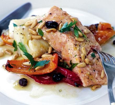 Zesty roast salmon & cod