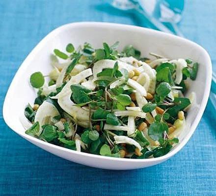 Fennel, watercress & pine nut salad