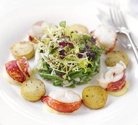 Warm lobster & potato salad with truffled mayonnaise