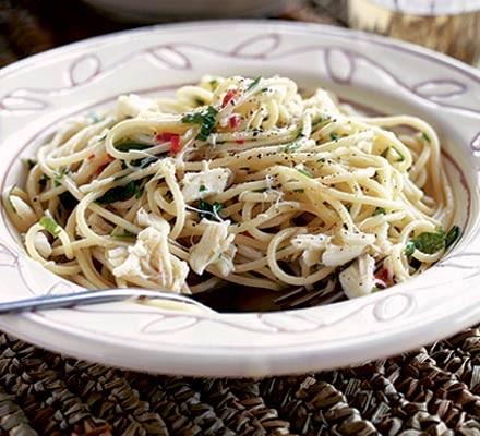 Crab & lemon spaghetti