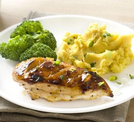 Tamarind chicken with golden mash