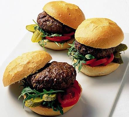Homemade brie burgers