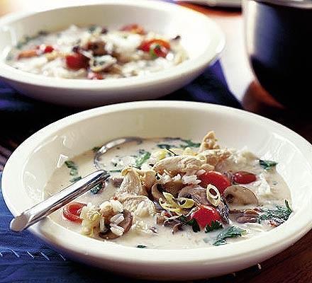 Hot & sour coconut soup