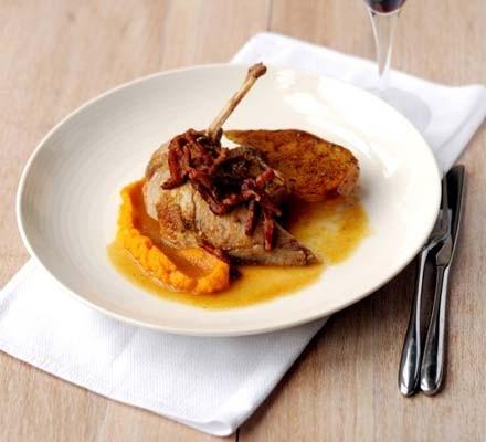 Pot-roast pheasant