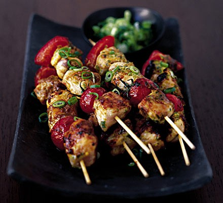 Spicy Chicken Kebabs Recipe Bbc Good Food