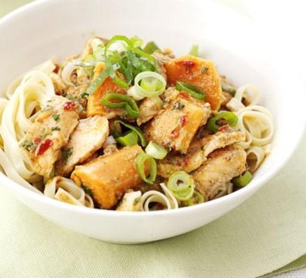 Thai salmon noodles